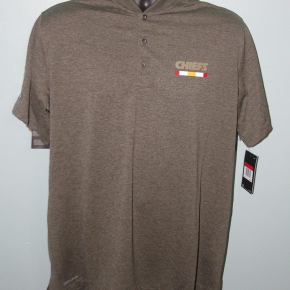 san francisco 73b4a 9d572 Nike KC Chiefs Salute to Service Collarless Polo L